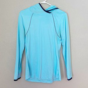 SPALDING Light Blue Athletic Pullover Hoodie SZ M